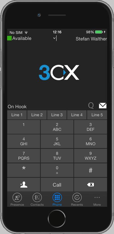 Altijd bereikbaar met de mobiele 3CX app